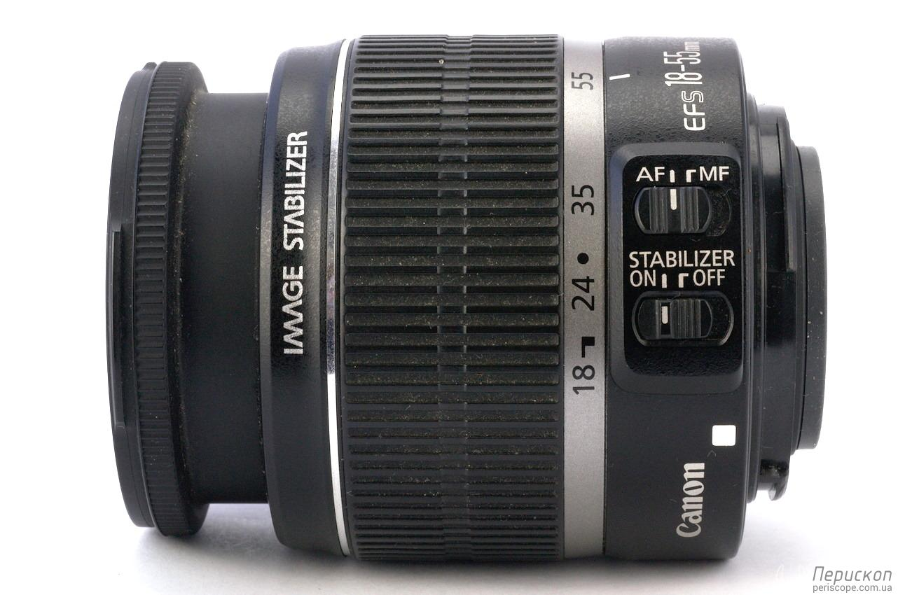 Canon EF-S 18-55mm 3.5-5.6 IS выдвинутый хобот