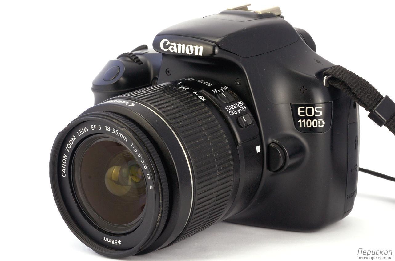 Объектив Canon EF-S 18-55 мм f/3.5-5.6 IS II на камере Canon EOS 1100D