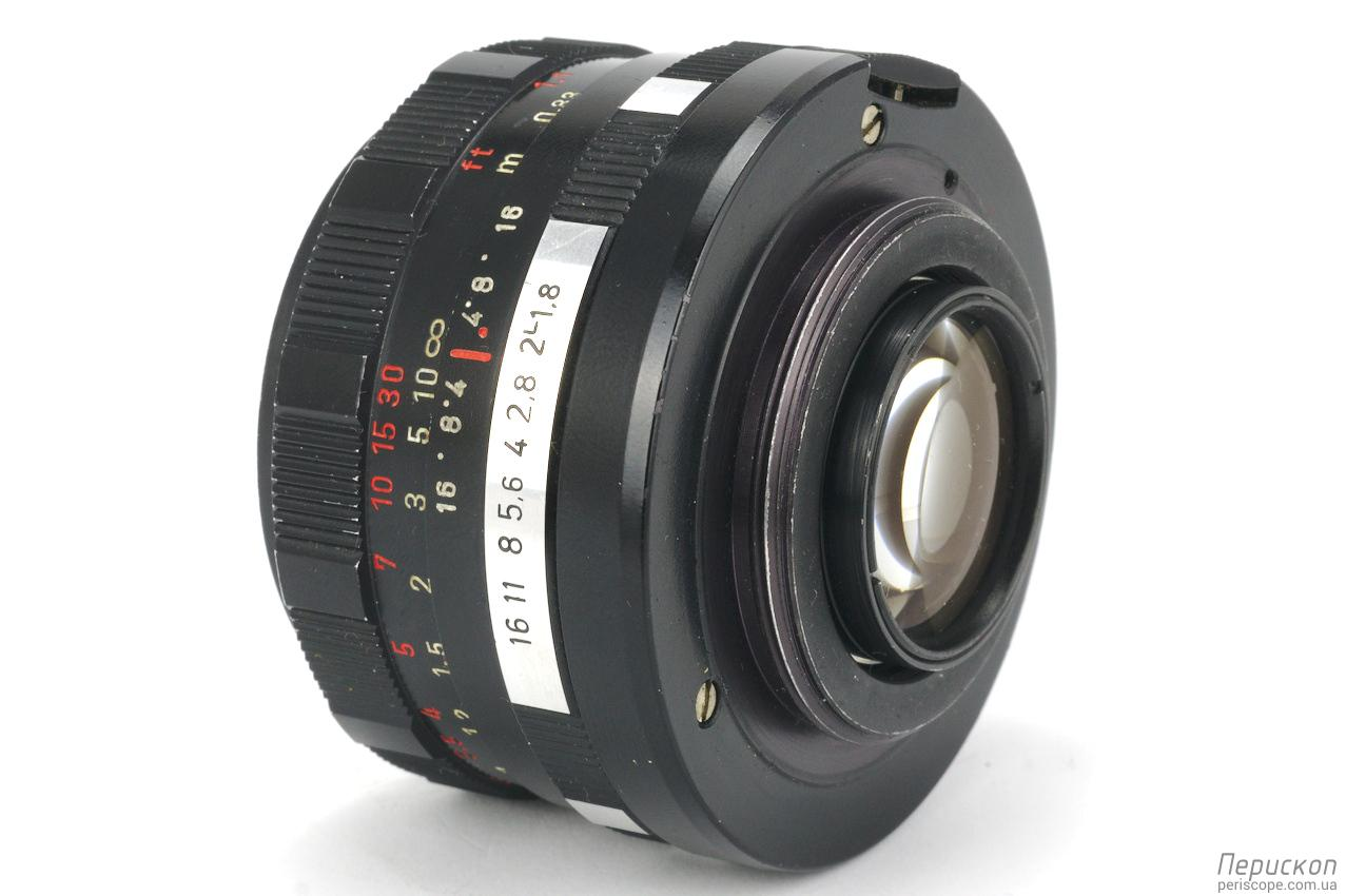 Meyer Optik Gorlitz Oreston f 1.8 50 задня линза