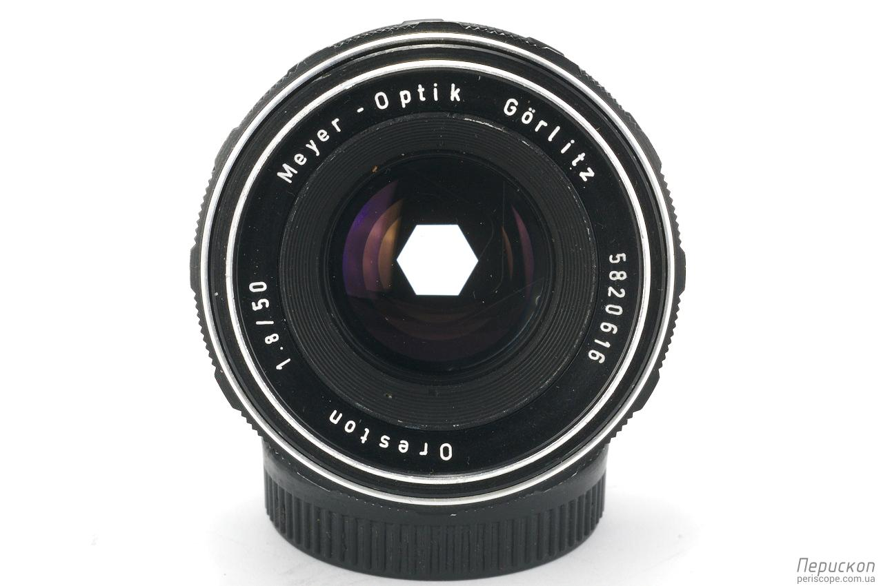 Meyer Optik Gorlitz Oreston f 1.8 50 передняя линза