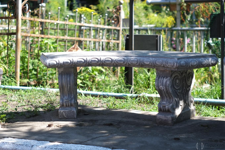 Лавочка антиквариат. Лукьяновское кладбище