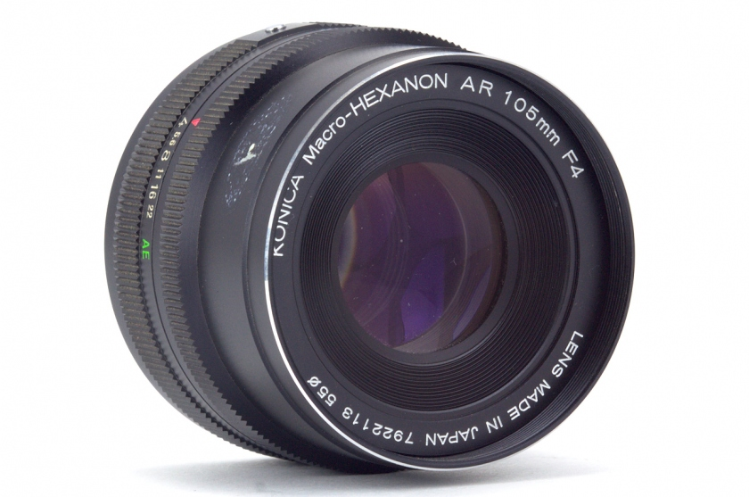 объектив Konica Macro-HEXANON AR 105mm F4