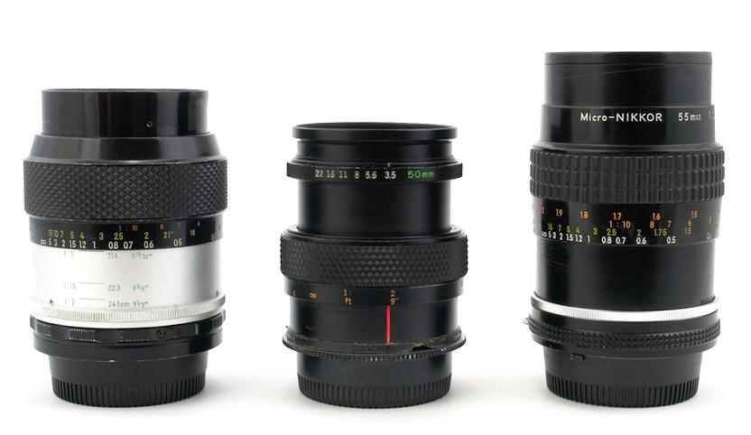 Тест на резкость и ГРИП: Micro-Nikkor-P.C 55mm 1:3.5, Zuiko 50mm 1:3.5 и Micro-Nikkor 55mm 1:2.8