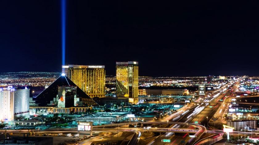 Огни Лас-Вегаса 4К таймлапс