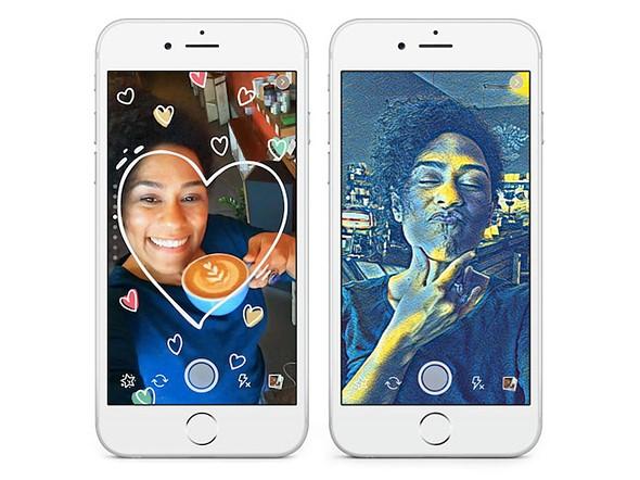 Фейсбук своими новыми функциями камеры нацелился на Снапчат и Призму