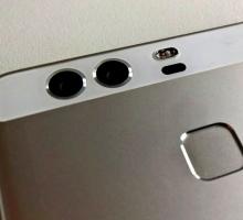 Huawei P9 флагмана с двумя основными камерами.