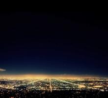 Огни Лос-Анджелеса - таймлапс