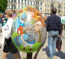 Фестиваль писанок на Софиевской площади