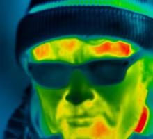 Как тело человека теряет тепло, эксперимент с использованием тепловизора