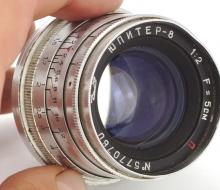 Объектив Юпитер-8 1:2 F=5 см П