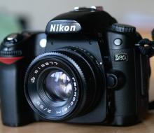 Установка Гелиос-81М 2/53 на фотоаппараты Nikon