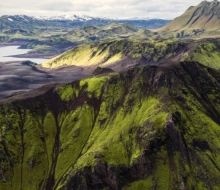 Исландские нагорья c воздуха
