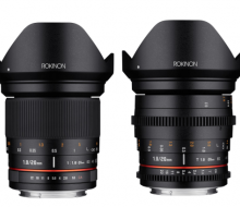 Rokinon 20mm F1.8 и Cine DS 20mm T1.9. Анонс